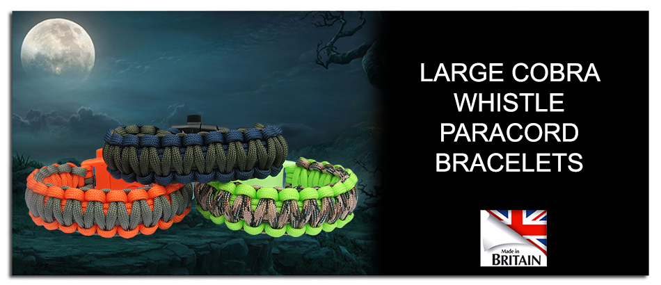 Link to cobra whistle paracord bracelets