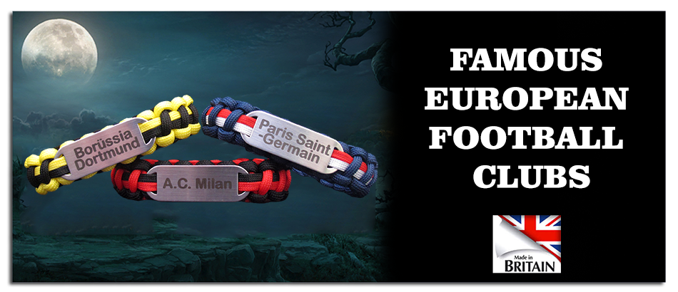 Link to famous European football club paracord bracelets
