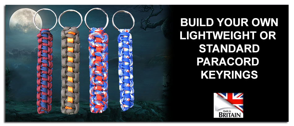 standard and lightweight paracord keyrings