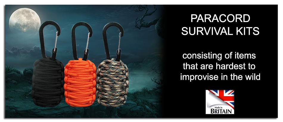 Paracord survival kits