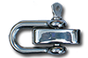 Small stainless steel D ring shackle